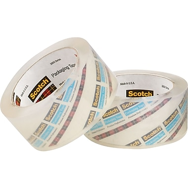 3M™ 2in. x 55 yds. Crystal Clear Tape 3850, 12/Case