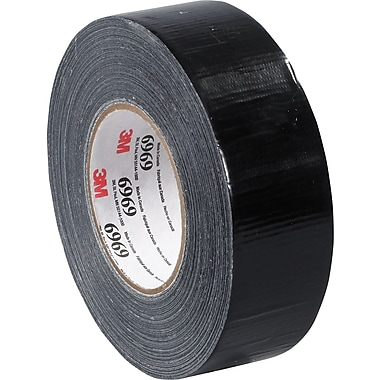 3M™ 2in. x 60 yds. Vinyl Duct Tape 6969, Black, 24/Case
