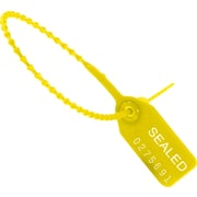 "BOX SE1003 9"" Plastic Pull-Tight Seal strap, Yellow"