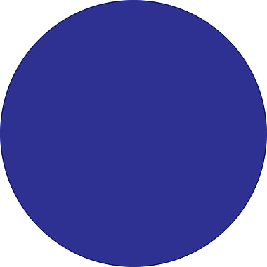 Tape Logic™ 2in. Circle Inventory Label, Dark Blue, 500/Roll