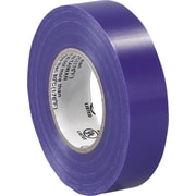 "Tape Logic™ 3/4""(W) x 20 yds(L) Vinyl Electrical Tape, Purple, 200/Case"