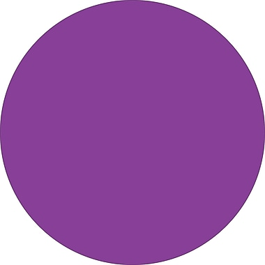 Tape Logic™ 3/4in. Circle Inventory Label, Purple, 500/Roll