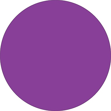 Tape Logic™ 1/2in. Circle Inventory Label, Purple, 500/Roll