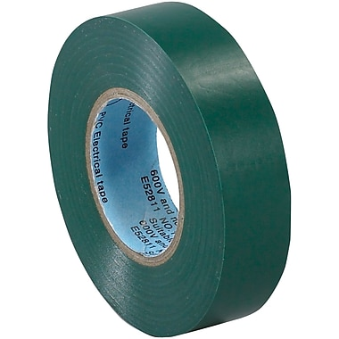 Tape Logic™ 3/4in.(W) x 20 yds(L) Vinyl Electrical Tape, Green, 200/Case