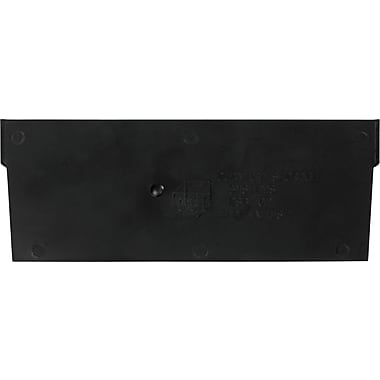 BOX Black Plastic Shelf Bin Divider, 7in. x 3in.