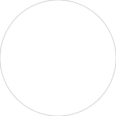 Tape Logic™ 3/4in. Circle Inventory Label, White, 500/Roll