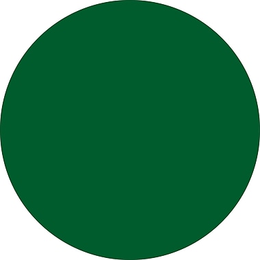 Tape Logic™ 1/2in. Circle Inventory Label, Green, 500/Roll