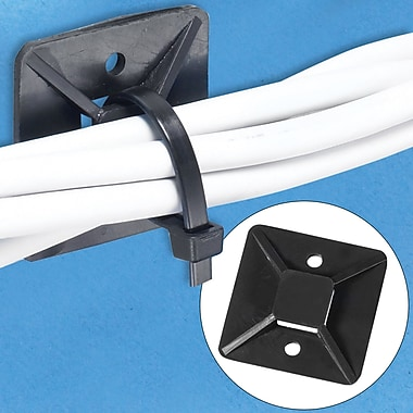 BOX Cable Tie Mount, 3/4in. x 3/4in., Black