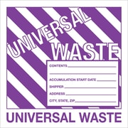 "Tape Logic™ Universal Hazardous Waste Label, 6"" x 6"""