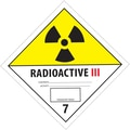 Tape Logic™ in.Radioactive IIIin. D.O.T. Hazard Label, 4in. x 4in.
