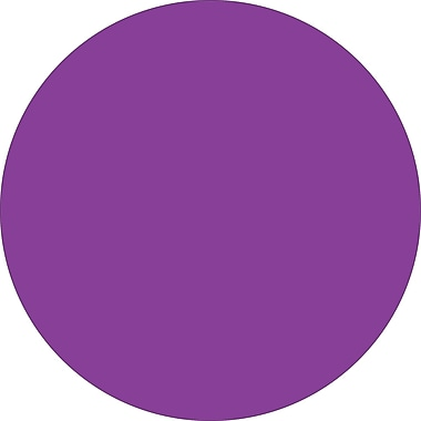 Tape Logic™ 2in. Circle Inventory Label, Purple, 500/Roll