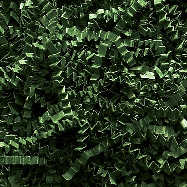 BOX 10 lbs. Crinkle Paper, Forest Green