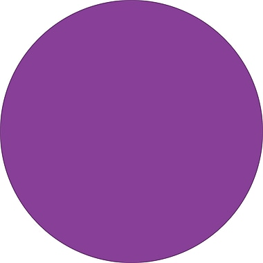 Tape Logic™ 1in. Circle Inventory Label, Purple, 500/Roll