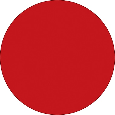 Tape Logic™ 1/2in. Circle Inventory Label, Red, 500/Roll