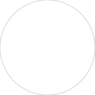 Tape Logic™ 2in. Circle Inventory Label, White, 500/Roll