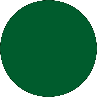 Tape Logic™ 2in. Circle Inventory Label, Green, 500/Roll