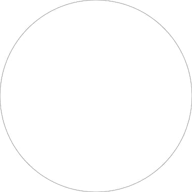 Tape Logic™ 1in. Circle Inventory Label, White, 500/Roll