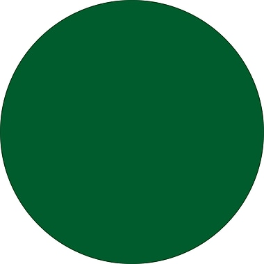 Tape Logic™ 1in. Circle Inventory Label, Green, 500/Roll