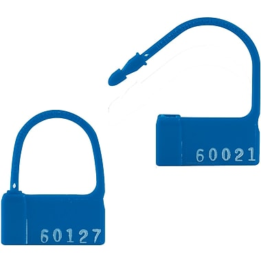 BOX 2in. Plastic Padlock Seal, Blue