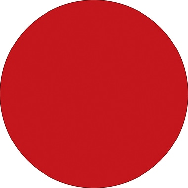 Tape Logic™ 4in. Circle Inventory Label, Red, 500/Roll