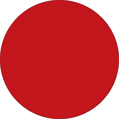Tape Logic™ 2in. Circle Inventory Label, Red, 500/Roll