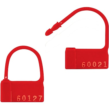 BOX 2in. Plastic Padlock Seal, Red