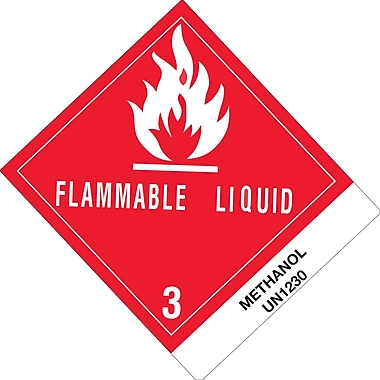 Tape Logic™ in.Flammable Liquid Methanolin. D.O.T. Label, 4in. x 4 3/4in.