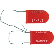 "BOX 6"" Plastic Wire Padlock Seal, Red"