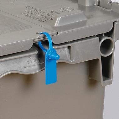 BOX 5in. Plastic Gemini Tote Seal, Blue