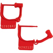 "BOX 8"" Plastic Handilok Seals, Red"