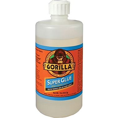 Gorilla® Super Glue, 16 oz., Translucent, 1/Case