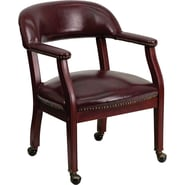 Flash Furniture Vinyl Luxurious Conference Chair with Casters, Oxblood