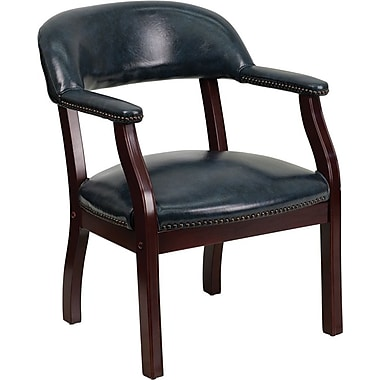 Flash Furniture Vinyl Mid Back Luxurious Conference Chair, Navy