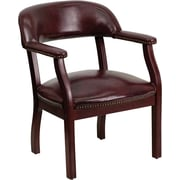 Flash Furniture Wood Conference Office Chair, Fixed Arms, Oxblood (BZ105OXBLD)