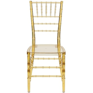 Flash Furniture 20/Pack Elegance Crystal Resin Stacking Chiavari Chairs