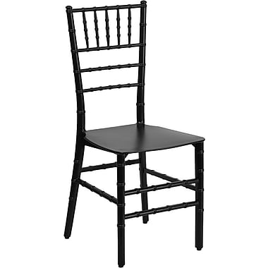 Flash Furniture Elegance Resin Stacking Chiavari Chair, Black, 10/Pack