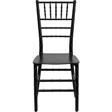 Flash Furniture Elegance Resin Stacking Chiavari Chair, Black, 32/Pack