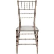 Flash Furniture Elegance Crystal Brown Stacking Chiavari Chair, 20/Pack