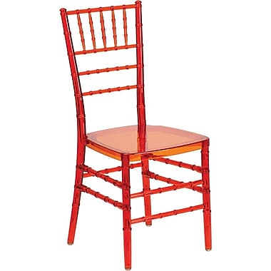 Flash Furniture Elegance Crystal Crimson Stacking Chiavari Chair, 10/Pack