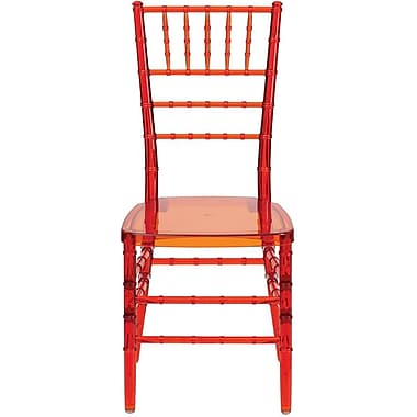 Flash Furniture Elegance Crystal Crimson Stacking Chiavari Chair, 32/Pack