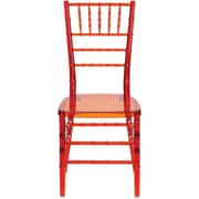 Flash Furniture Elegance Crystal Crimson Stacking Chiavari Chair, 20/Pack