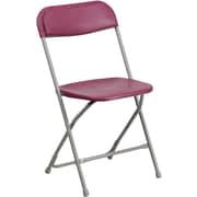 Flash Furniture HERCULES Series 440 lb. Capacity Premium Plastic Folding Chair, Burgundy, 20/Pack