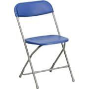 Flash Furniture HERCULES Series 440 lb. Capacity Premium Plastic Folding Chair, Blue, 20/Pack