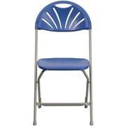 Flash Furniture HERCULES Series 440 lb. Capacity Plastic Fan Back Folding Chair, Blue, 32/Pack