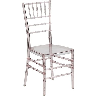 Flash Furniture Elegance Crystal Resin Stacking Chiavari Chair, Pink, 10/Pack