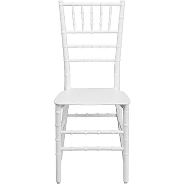 Flash Furniture Elegance Resin Stacking Chiavari Chair, White, 20/Pack