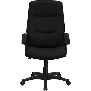 Flash Furniture High Back Fabric Executive Swivel Office Chair, Black
