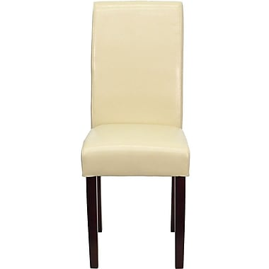 Flash Furniture Leather Upholstered Parsons Chair, Ivory
