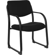 Flash Furniture Fabric Executive Side Chair with Sled Base, Black