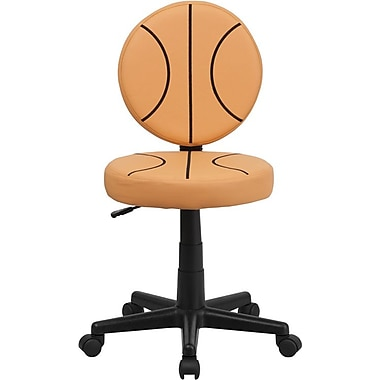 Flash Furniture Vinyl Basketball Task Chair Without Arms, Orange